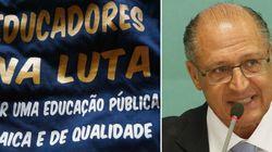 Alckmin considera a greve dos professores 'muito