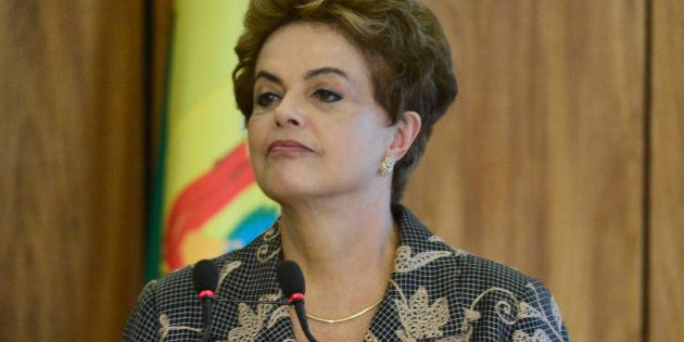 BRASILIA, BRAZIL - FEBRUARY 02: President of Brazil Dilma Rousseff gives a speech during President of...