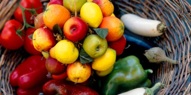 Fruits and vegetables in