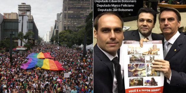 Organização da Parada Gay de SP quer que MPF investigue deputados da Bancada Evangélica após protesto...