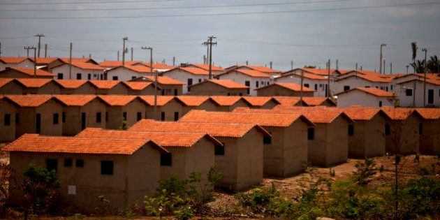 Rows of houses of the low income residential project Jacinta Andrade, funded by a federal program called...