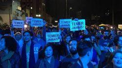 ASSISTA: Sonoros 'Fora, Temer!' marcam primeira noite da Virada