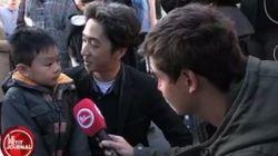 'Eles têm armas, nós temos flores', diz pai para filho ao explicar atentados na