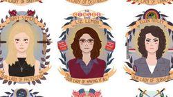 9 iIustrações celebram personagens femininas FORTES da