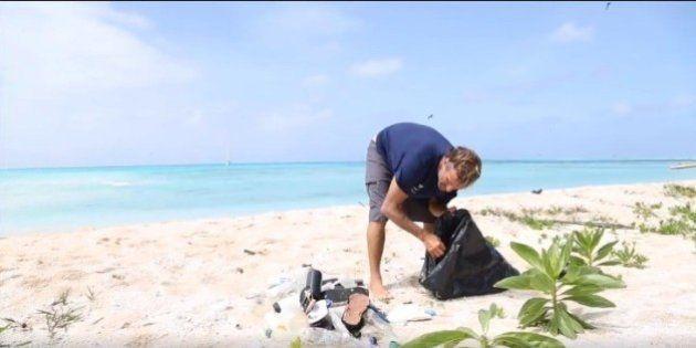 Família Shurmann é surpreendida com grande quantidade de lixo em praia paradisíaca no Pacífico