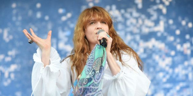 MANCHESTER, TN - JUNE 14: Singer Florence Welch of Florence and the Machine performs onstage at What...