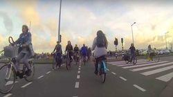 ASSISTA: Vídeo mostra o domínio das bicicletas em um dia comum em