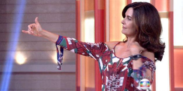 Fátima Bernardes arrisca passinho de 'Tá Tranquilo, Tá Favorável' e surpreende a
