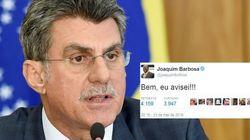 Joaquim Barbosa sobre saída de Jucá: 'Bem, eu