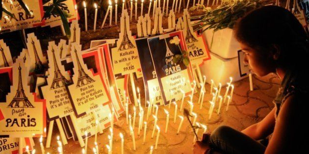 KOLKATA, INDIA - MOVEMBER 18: Students from different colleges and schools organized a candle march as...