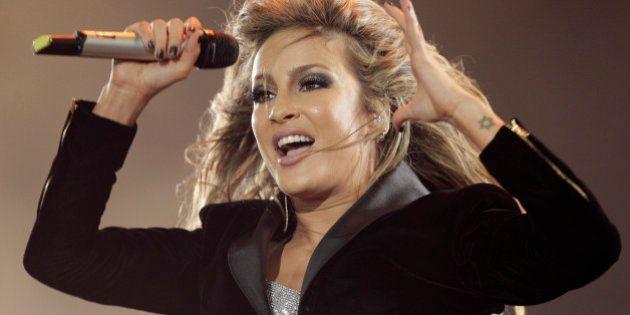 Brazilian singer Claudia Leitte performs during the Rock in Rio music festival, in Rio de Janeiro, Brazil,...