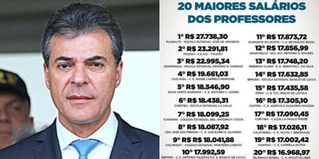 Governo do Paraná é alvo de reportagem que desmente tese dos 'supersalários' de professores estaduais