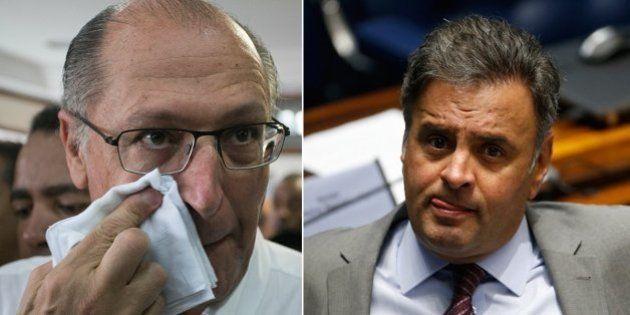 Geraldo Alckmin engrossa o tom para marcar posição como rival de Aécio Neves dentro do