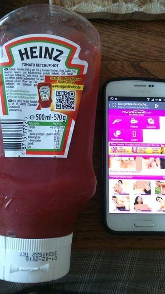 Alemão escaneia QR Code de ketchup Heinz e é direcionado a site pornô; empresa se