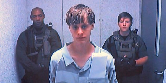 Dylann Roof appears via video before a judge, in Charleston, S.C., Friday, June 19, 2015. The 21-year-old...