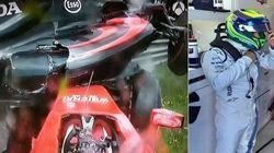 ASSISTA: Em dia de pódio de Massa, acidente causa susto no GP da