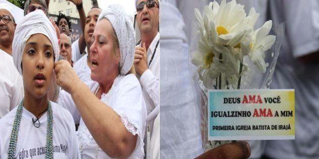 Ato contra intolerância religiosa reúne 400 pessoas no Rio de