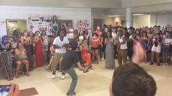 ASSISTA: Garoto vence 'batalha de dança' na escola com passo