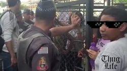 ASSISTA: Garoto 'enfrenta' PM em escola ocupada e vídeo
