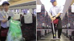 ASSISTA: Funcionários do trem-bala de Tóquio limpam vagões em apenas 7