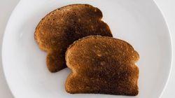 Alimentos tostados podem ser