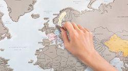QUERO! Mapa permite raspar países que você já