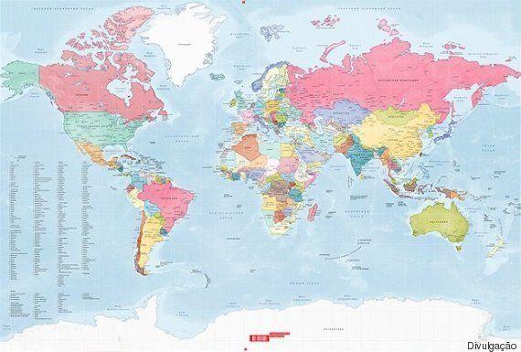 Mapa permite raspar países que você já