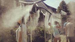 Auschwitz instala duchas contra calor e atrai