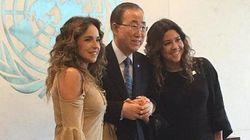 O beijo entre Daniela Mercury e Malu Verçosa na ONU para celebrar o amor de