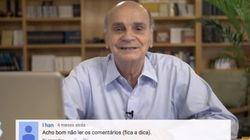 ASSISTA: Drauzio Varella lê comentários de leitores, mas passa