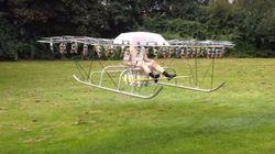 ASSISTA: Homem cria 'helicóptero' caseiro utilizando