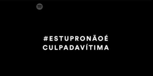 #EstuproNãoÉCulpaDaVítima: Ouça playlist do Spotify contra a cultura do
