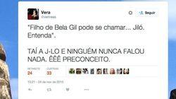 Filho de Bela Gil pode se chamar Jiló e nome vira piada nas redes
