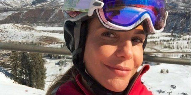 Ivete Sangalo dá show de habilidade no esqui