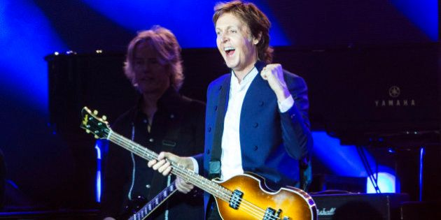 ROSKILDE, DENMARK - JULY 04: Paul McCartney performs at Roskilde Festival on July 4, 2015 in Roskilde,...