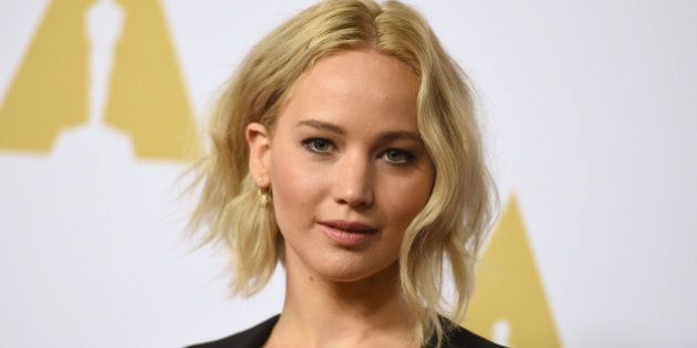 Jennifer Lawrence arrives at the 88th Academy Awards Nominees Luncheon at The Beverly Hilton hotel on...