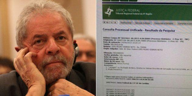Justiça Federal recebe pedido de habeas corpus para que Lula não seja preso pela Operação Lava