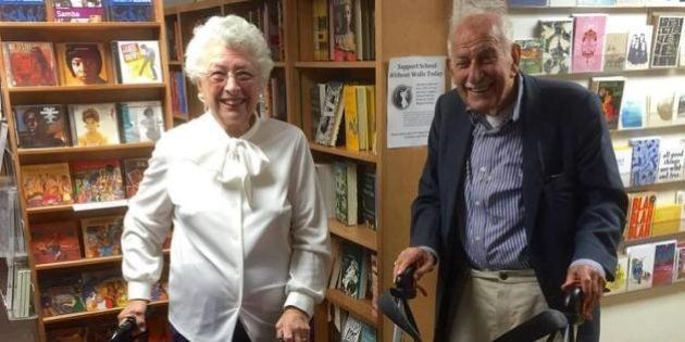 Dois idosos de 90 anos deram uma chance ao amor em um encontro às