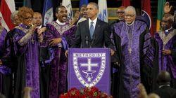 ASSISTA: Obama emociona público ao cantar em funeral em