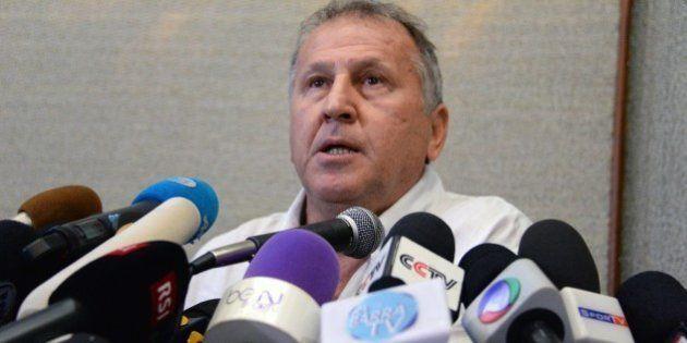 Former Brazilian footballer Arthur Antunes Coimbra 'Zico', speaks during a press conference in Rio de...