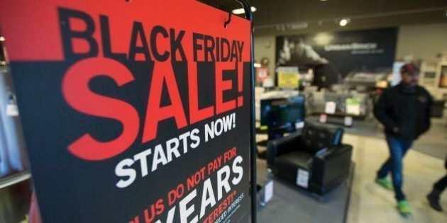 TORONTO, ON - NOVEMBER 22: Black Friday deals can be had prior to the actual Black Friday, which is the...