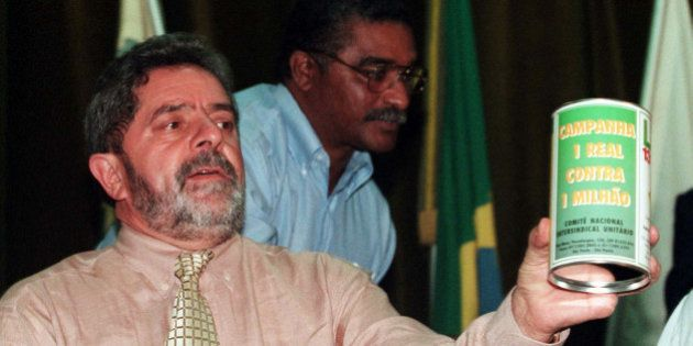 BRASILIA, BRAZIL - AUGUST 25: (BRAZIL OUT) Worker's Party Presidential candidate Luiz Inacio Lula da...