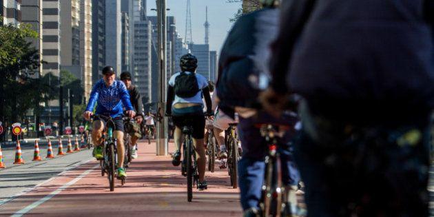 Ciclovia da Av. Paulista é inaugurada; prefeitura de SP testa vetar carros aos