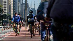 Ciclovia da Av. Paulista é inaugurada; prefeitura testa vetar carros aos