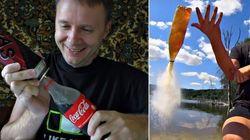 Veja o que acontece quando você mistura Coca-Cola e gás