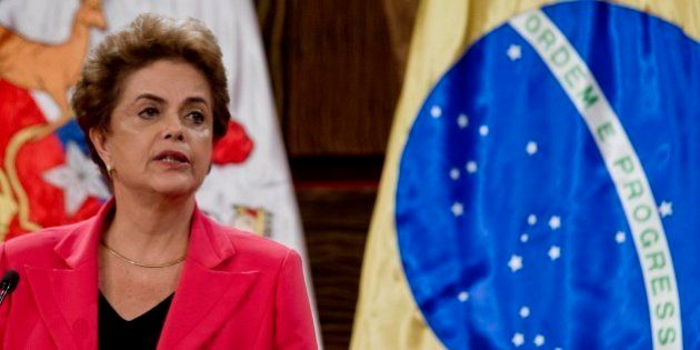 Brazil's President Dilma Rousseff speaks duringg a joint declaration with Chile's President Michelle...