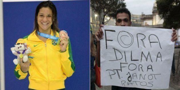 Joanna Maranhão critica nadadores revoltados 'com único partido' no Brasil para alfinetar