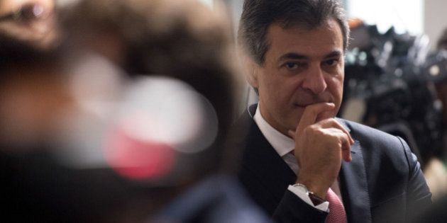 Governador do Paraná, Beto Richa, durante sabatina na Comissão de Constituição e Justiça de Luiz...