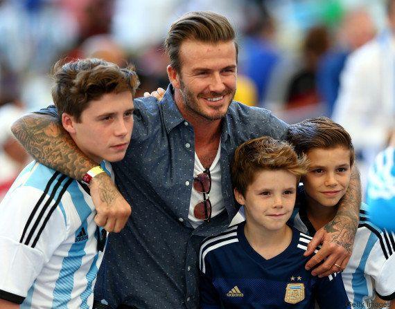 David Beckham faz 'tatuagem' de Minion a pedido da