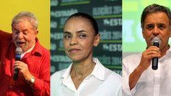 Datafolha: Aécio tem 31%, Lula, 22% e Marina, 21% das intenções de